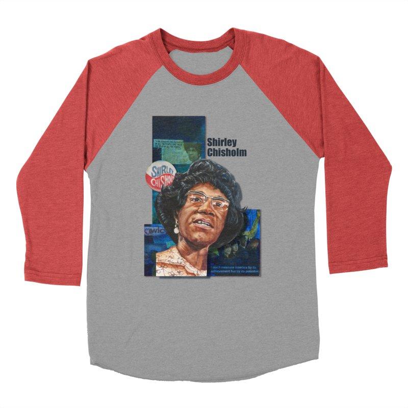 Shirley Chisholm Women's Baseball Triblend Longsleeve T-Shirt by Afro Triangle's