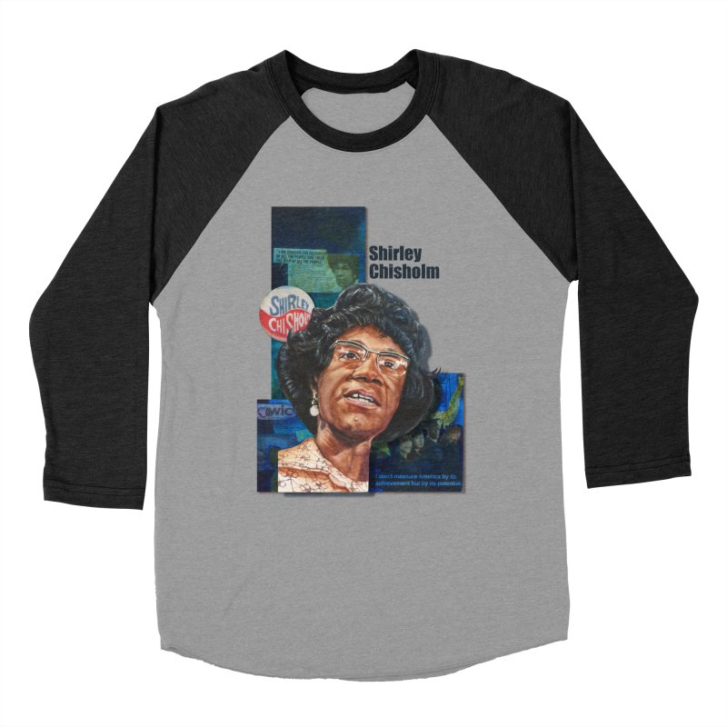 Shirley Chisholm Men's Baseball Triblend Longsleeve T-Shirt by Afro Triangle's