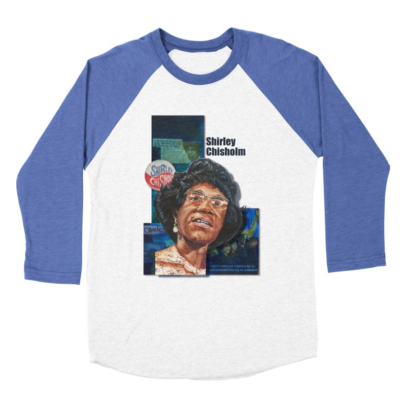 Shirley Chisholm Men's Baseball Triblend T-Shirt by Afro Triangle's