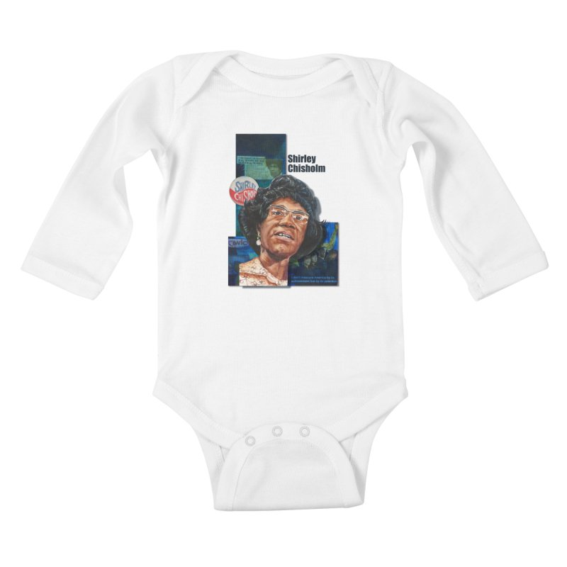 Shirley Chisholm Kids Baby Longsleeve Bodysuit by Afro Triangle's