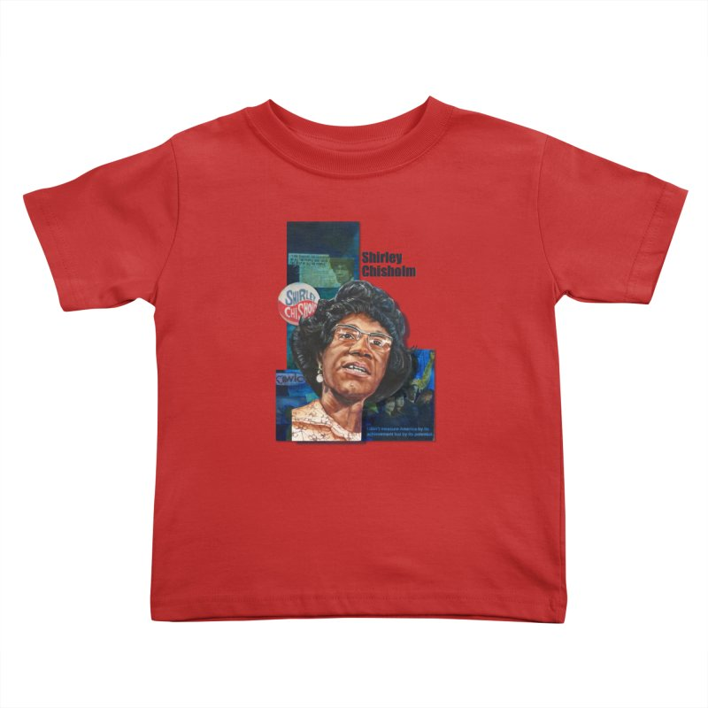 Shirley Chisholm Kids Toddler T-Shirt by Afro Triangle's