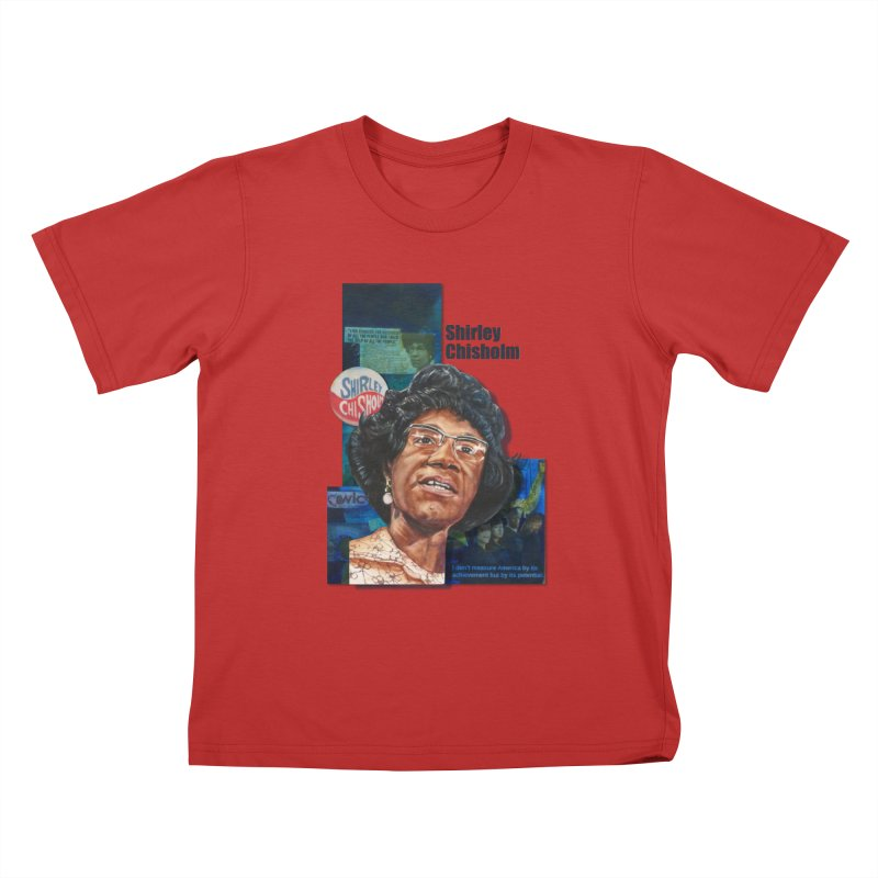 Shirley Chisholm Kids T-Shirt by Afro Triangle's