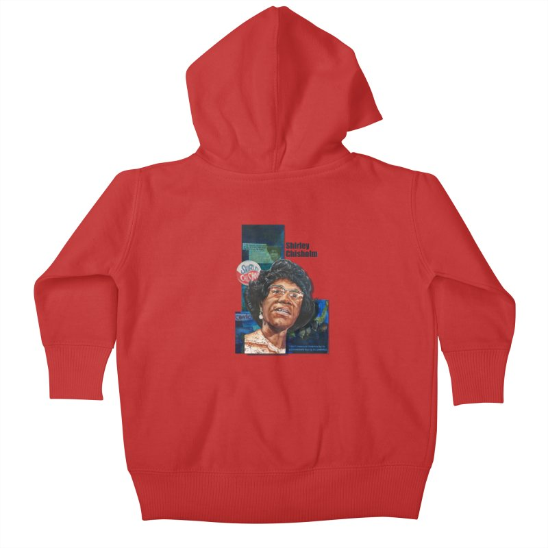 Shirley Chisholm Kids Baby Zip-Up Hoody by Afro Triangle's