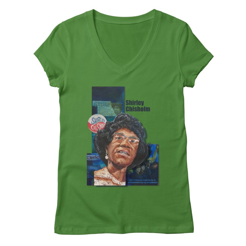 Shirley Chisholm Women's V-Neck by Afro Triangle's