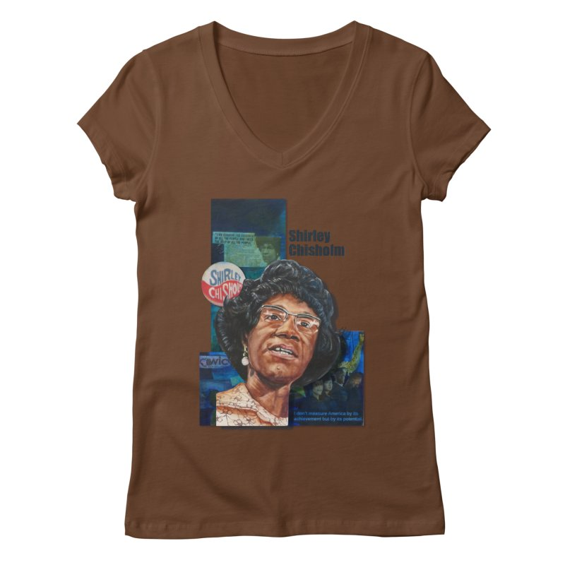 Shirley Chisholm Women's Regular V-Neck by Afro Triangle's