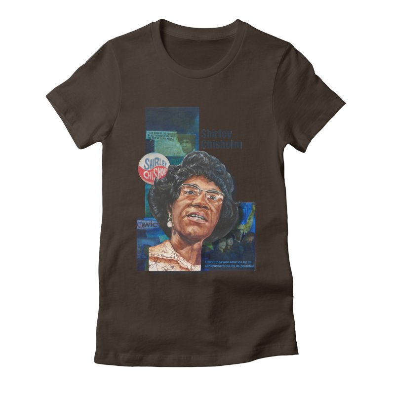 Shirley Chisholm Women's Fitted T-Shirt by Afro Triangle's