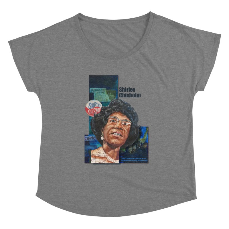Shirley Chisholm Women's Scoop Neck by Afro Triangle's