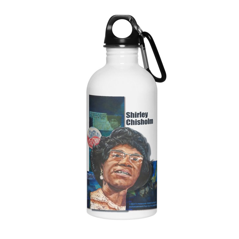 Shirley Chisholm Accessories Water Bottle by Afro Triangle's