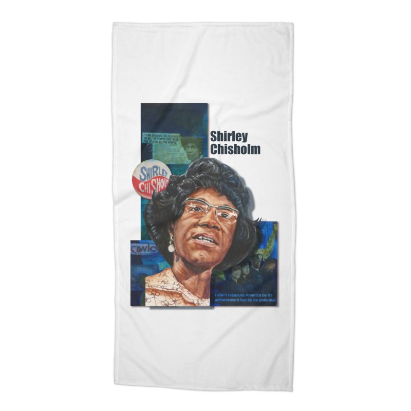 Shirley Chisholm Accessories Beach Towel by Afro Triangle's