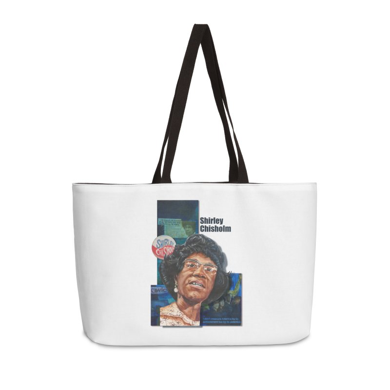 Shirley Chisholm Accessories Weekender Bag Bag by Afro Triangle's