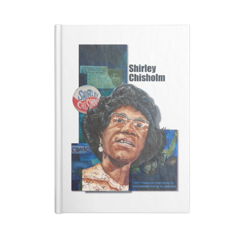 Shirley Chisholm Accessories Lined Journal Notebook by Afro Triangle's