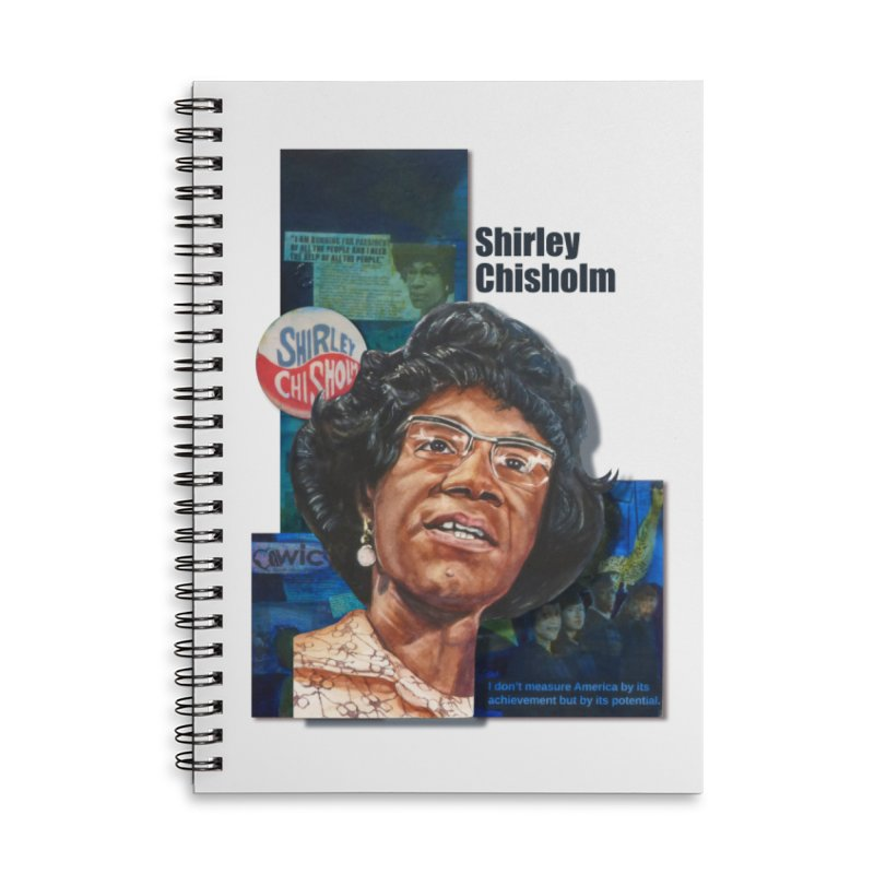 Shirley Chisholm Accessories Lined Spiral Notebook by Afro Triangle's