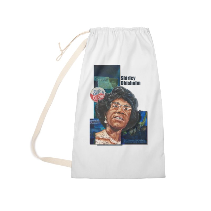 Shirley Chisholm Accessories Laundry Bag Bag by Afro Triangle's
