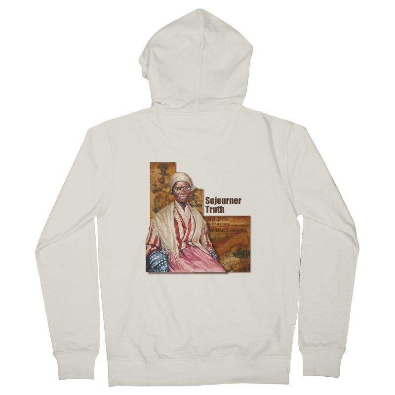 Sojourner Truth Men's French Terry Zip-Up Hoody by Afro Triangle's