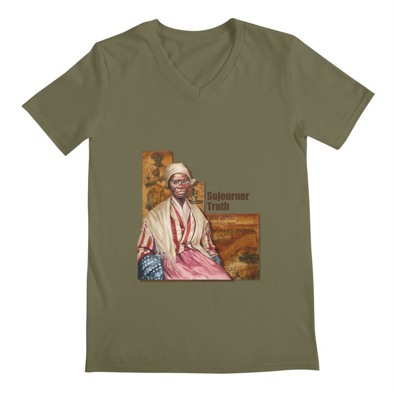 Sojourner Truth Men's V-Neck by Afro Triangle's