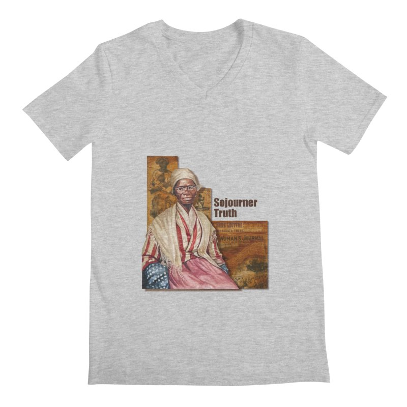 Sojourner Truth Men's Regular V-Neck by Afro Triangle's