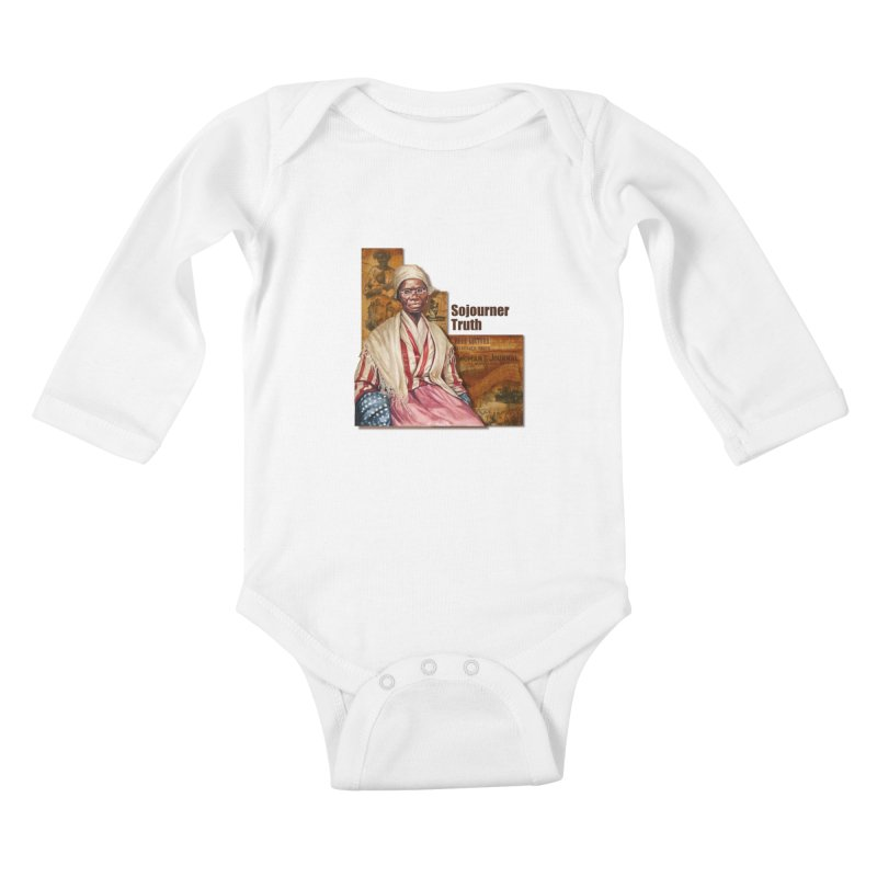 Sojourner Truth Kids Baby Longsleeve Bodysuit by Afro Triangle's