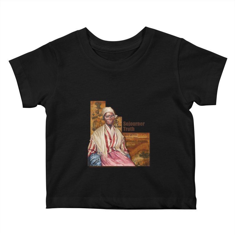 Sojourner Truth Kids Baby T-Shirt by Afro Triangle's