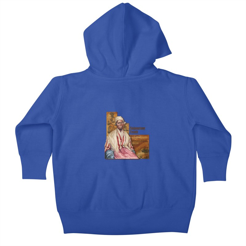 Sojourner Truth Kids Baby Zip-Up Hoody by Afro Triangle's
