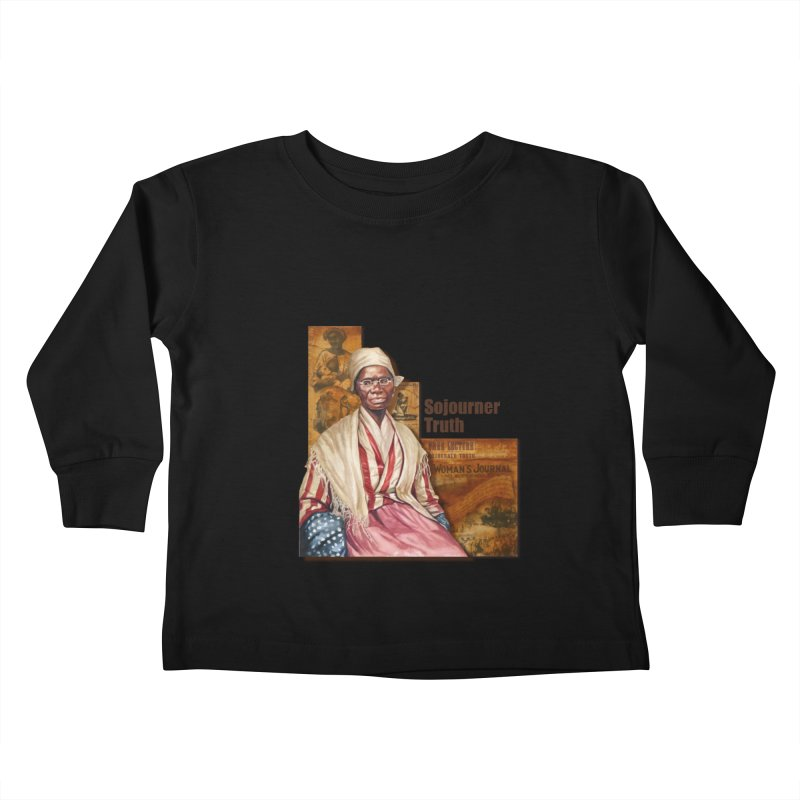 Sojourner Truth Kids Toddler Longsleeve T-Shirt by Afro Triangle's