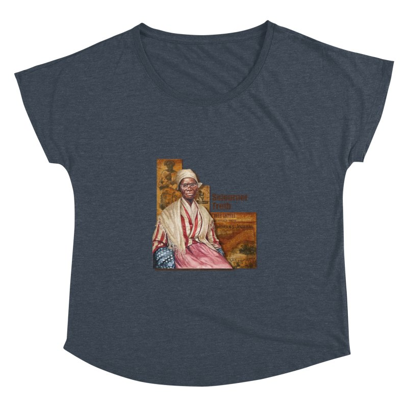 Sojourner Truth Women's Dolman Scoop Neck by Afro Triangle's