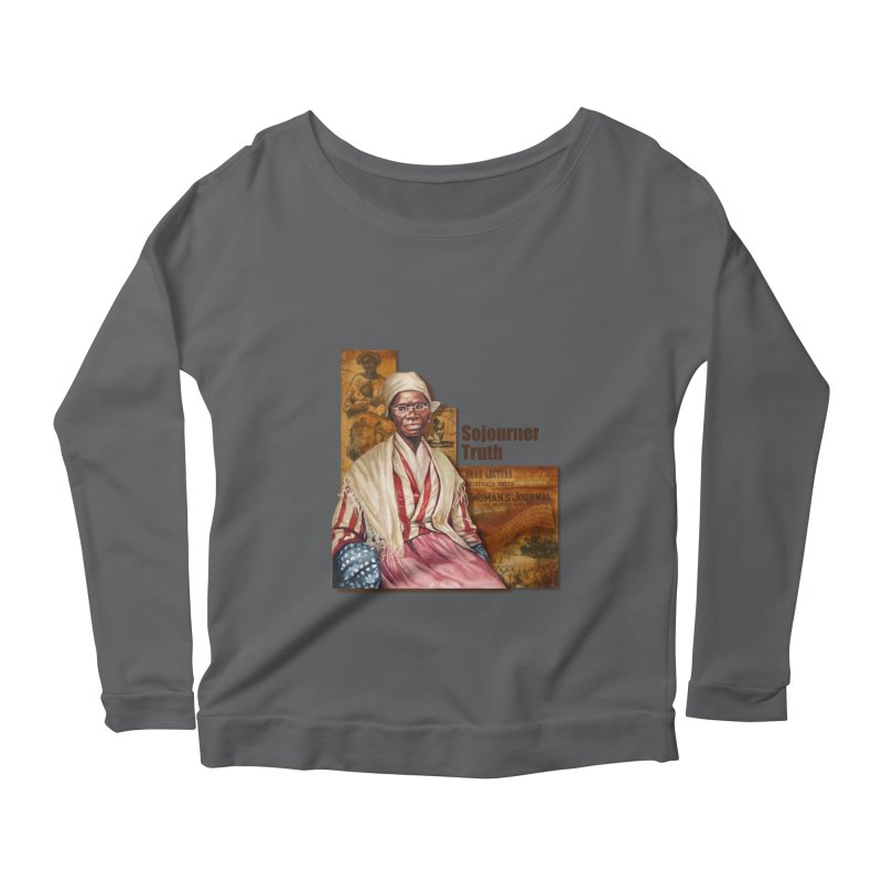 Sojourner Truth Women's Scoop Neck Longsleeve T-Shirt by Afro Triangle's