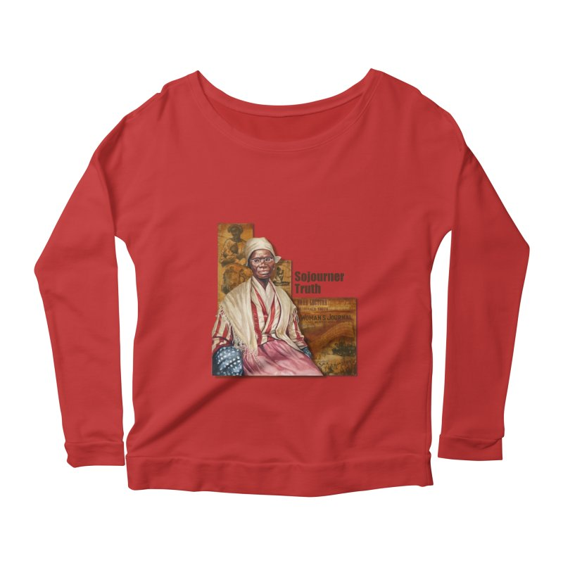 Sojourner Truth Women's Longsleeve Scoopneck  by Afro Triangle's