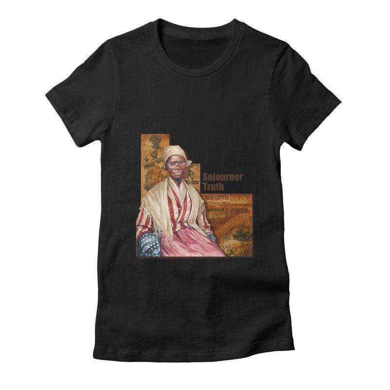 Sojourner Truth Women's Fitted T-Shirt by Afro Triangle's