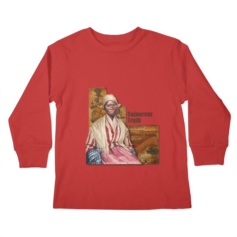 Sojourner Truth Kids Longsleeve T-Shirt by Afro Triangle's