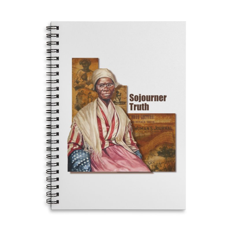 Sojourner Truth Accessories Lined Spiral Notebook by Afro Triangle's