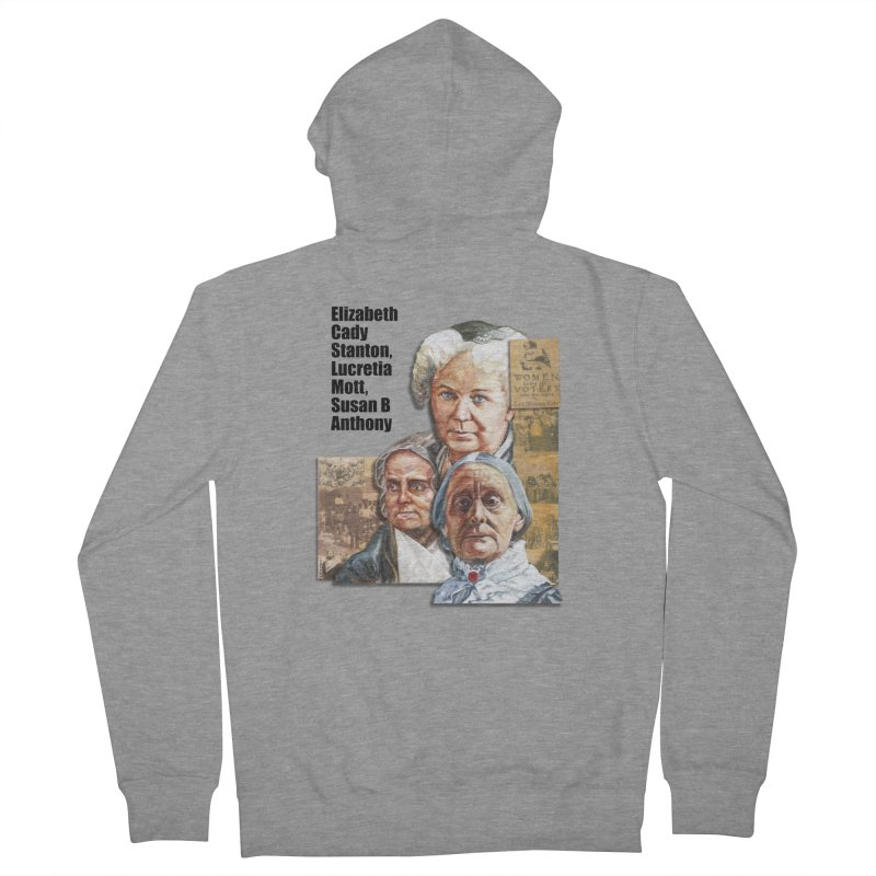 Women's Suffrage Men's French Terry Zip-Up Hoody by Afro Triangle's