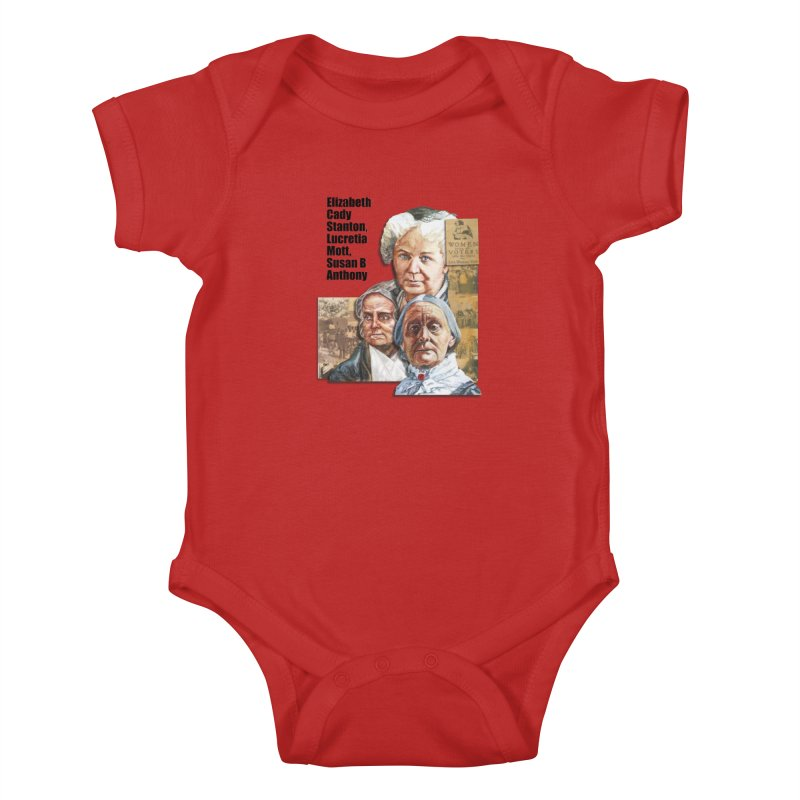 Women's Suffrage Kids Baby Bodysuit by Afro Triangle's