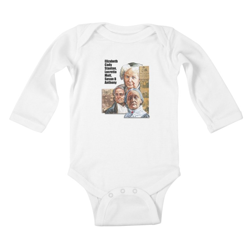 Women's Suffrage Kids Baby Longsleeve Bodysuit by Afro Triangle's