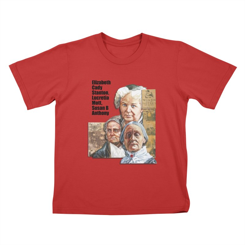 Women's Suffrage Kids T-Shirt by Afro Triangle's