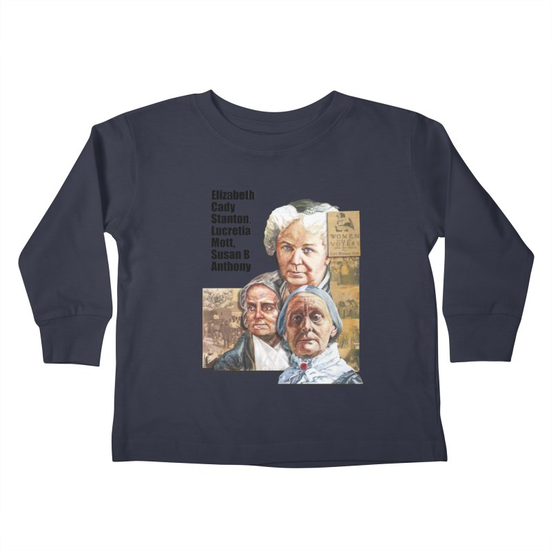 Women's Suffrage Kids Toddler Longsleeve T-Shirt by Afro Triangle's
