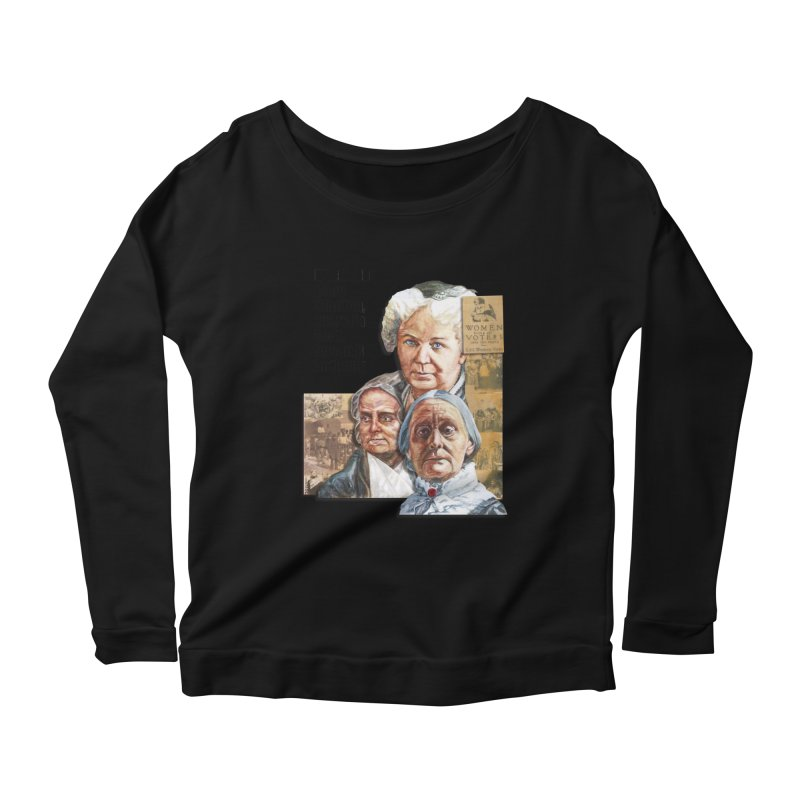 Women's Suffrage Women's Scoop Neck Longsleeve T-Shirt by Afro Triangle's