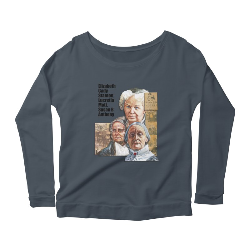 Women's Suffrage Women's Scoop Neck Longsleeve T-Shirt by Afro Triangle's