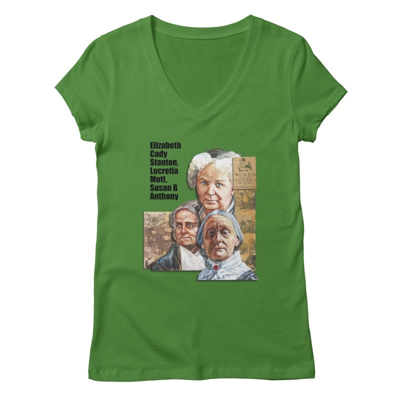 Women's Suffrage Women's Regular V-Neck by Afro Triangle's