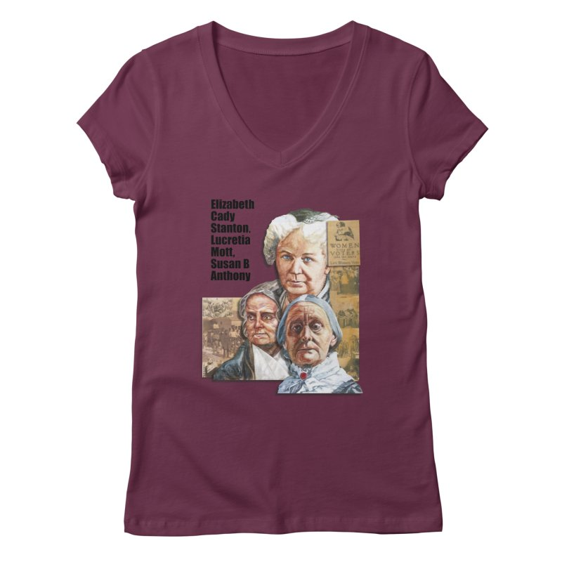 Women's Suffrage Women's V-Neck by Afro Triangle's