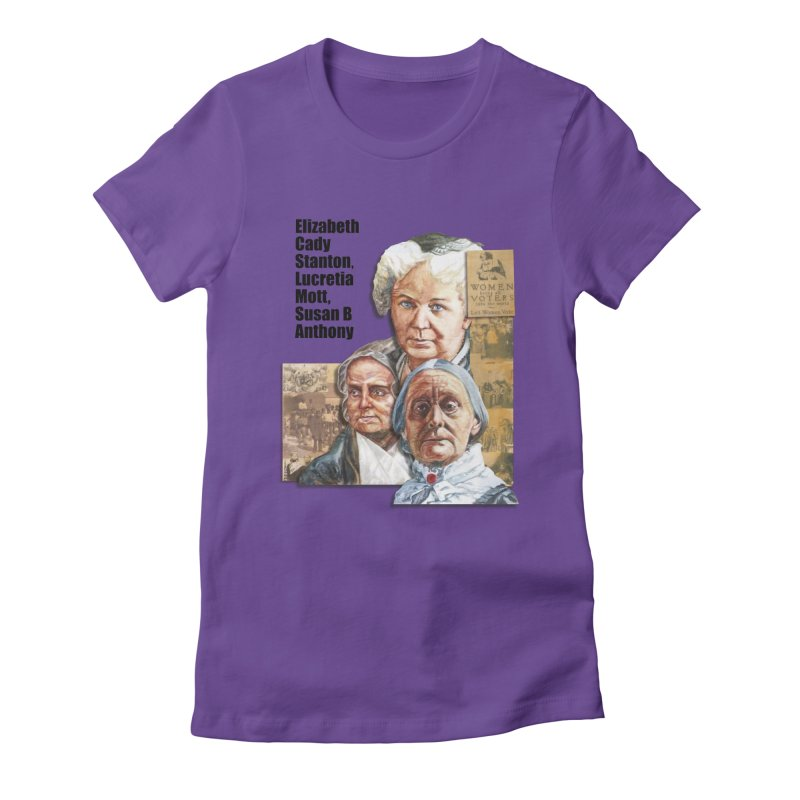 Women's Suffrage Women's Fitted T-Shirt by Afro Triangle's