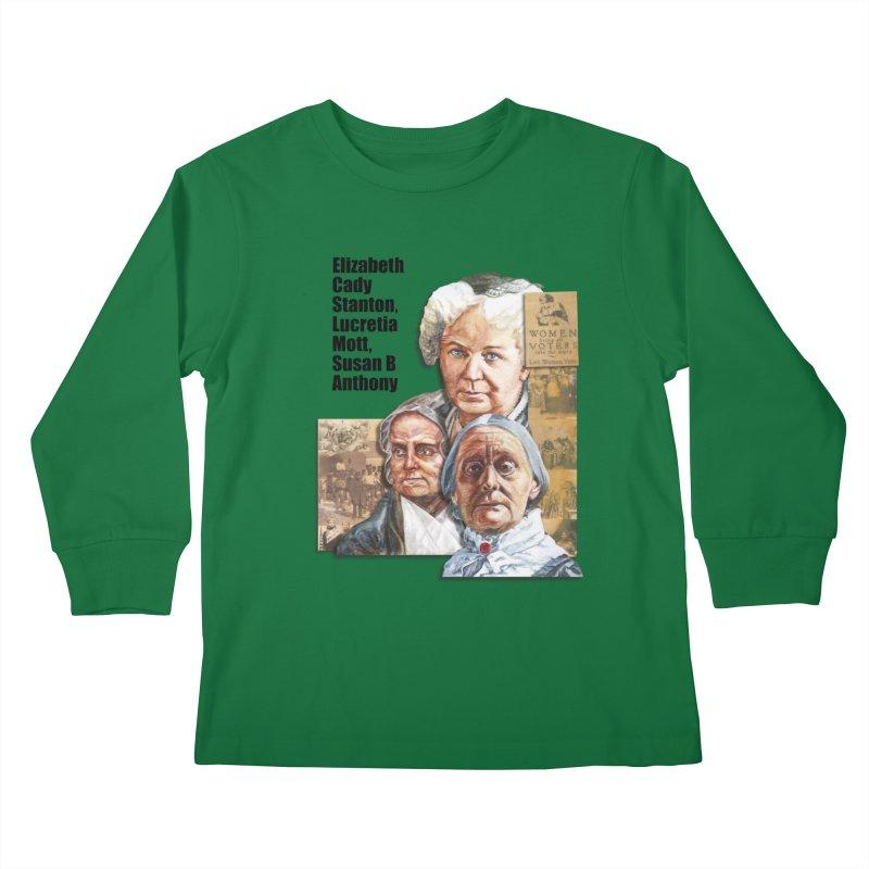 Women's Suffrage Kids Longsleeve T-Shirt by Afro Triangle's