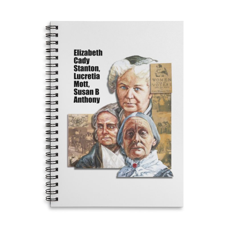 Women's Suffrage Accessories Lined Spiral Notebook by Afro Triangle's