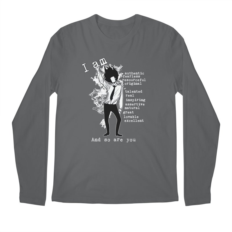 I Am Man Men's Longsleeve T-Shirt by Afro Triangle's