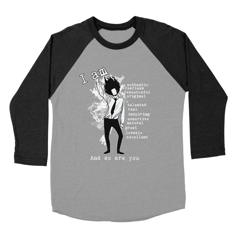 I Am Man Men's Baseball Triblend T-Shirt by Afro Triangle's