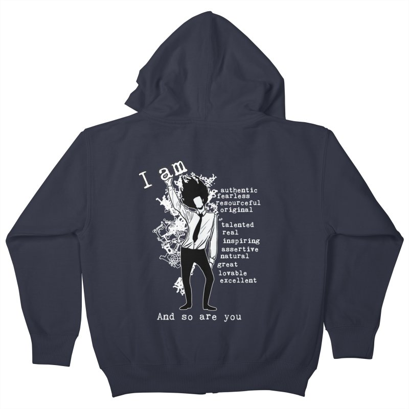 I Am Man Kids Zip-Up Hoody by Afro Triangle's