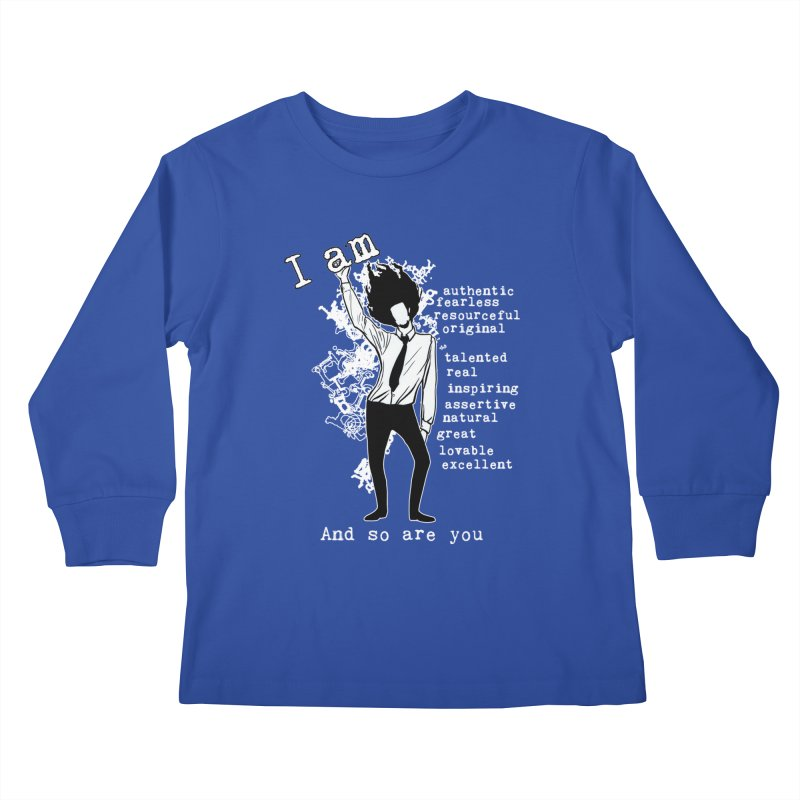 I Am Man Kids Longsleeve T-Shirt by Afro Triangle's