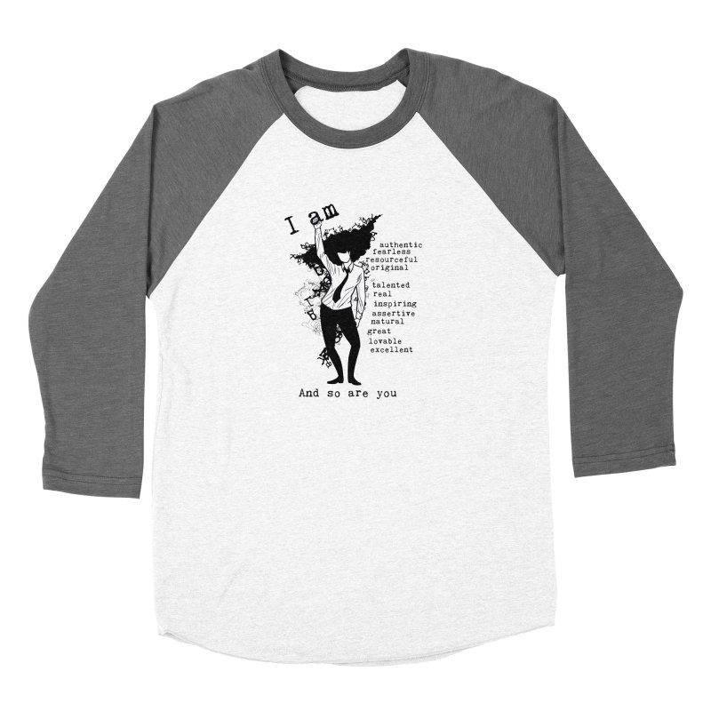 I Am Woman  Women's Longsleeve T-Shirt by Afro Triangle's