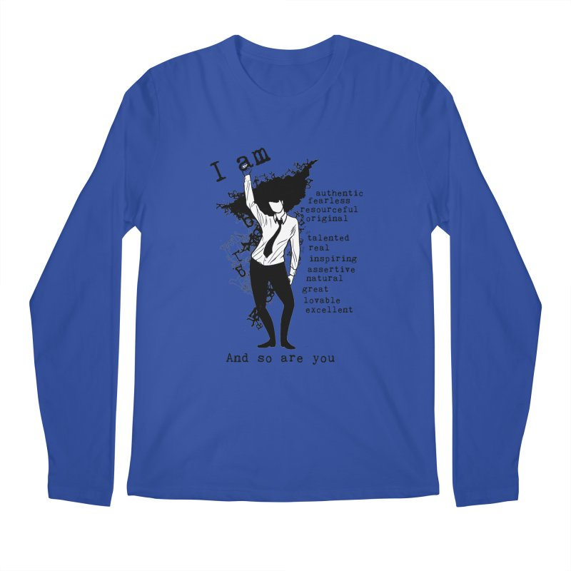 I Am Woman  Men's Longsleeve T-Shirt by Afro Triangle's