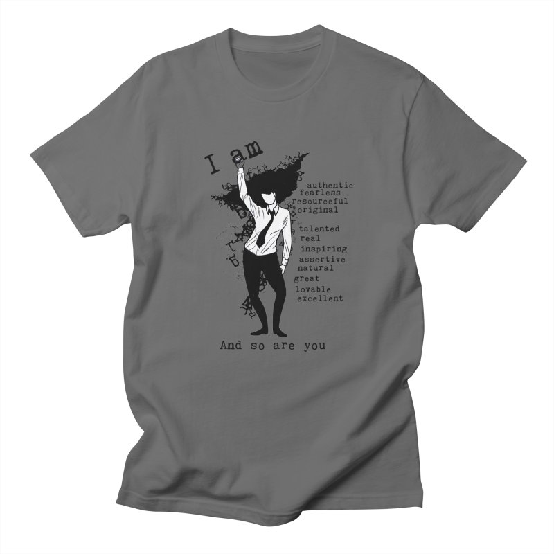 I Am Woman  Men's T-Shirt by Afro Triangle's