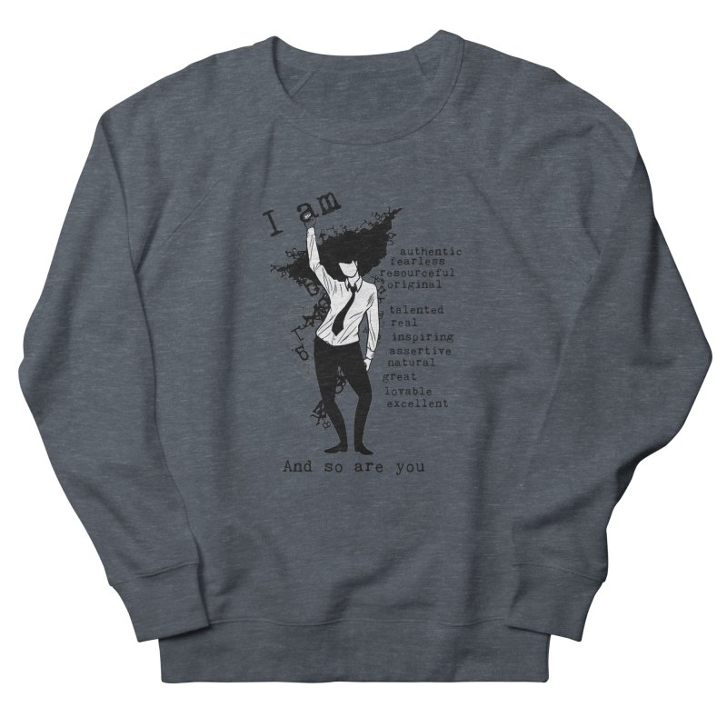 I Am Woman  Women's Sweatshirt by Afro Triangle's